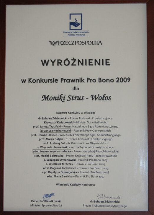 Nagroda dla najlepszego prawnika pro bono